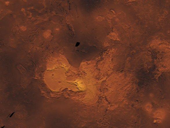 Ishtar Terra s Maxwell Montes. Veněra 15 a 16 Autor: Don P. Mitchell