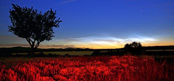 Noční oblaka nad Malými Karpatami Autor: Marián Dujnič