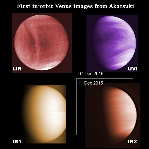 První snímky Venuše z Akatsuki po usazení na oběžnou dráhu Autor: JAXA