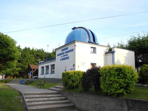 Budova observatoře v Niepolomicach. Autor: Jaromír Ciesla.