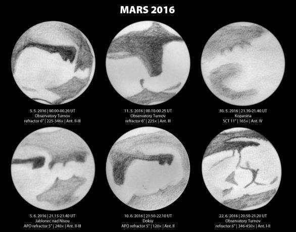 Kresby Marsu od Aleše Majere během opozice 2016. Autor: KaL.