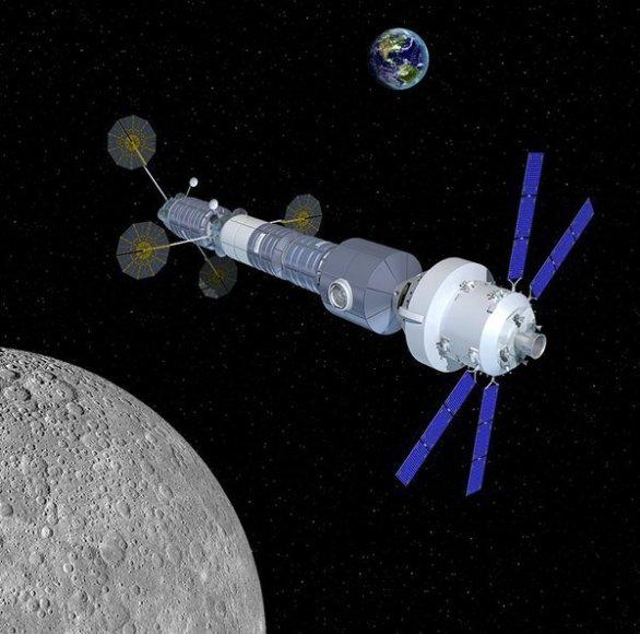 Stanice u Měsíce postavená na základě modulů z lodí Cygnus Autor: Orbital ATK
