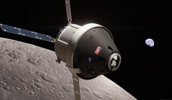 Loď Orion u Měsíce. Rendering okan170 Autor: Imgur