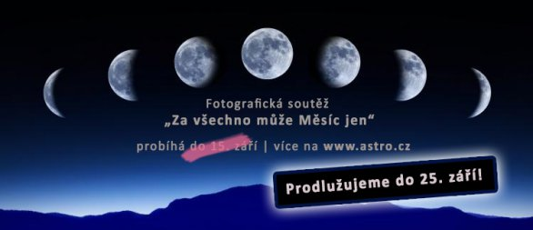 Banner - soutěž za všechno může Měsíc jen... byla prodloužena! Autor: Obec Mokré.