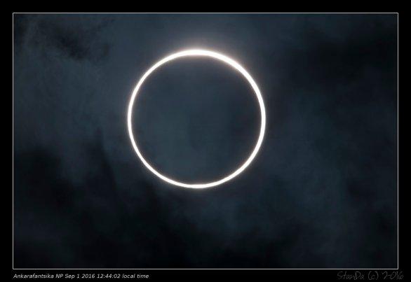 Maximum prstenového zatmění Slunce 1. září 2016 na Madagaskaru. Autor: Stanislav Daniš.