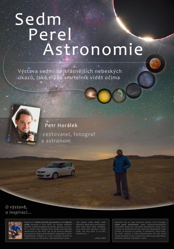 Výstava Sedm perel astronomie na pardubické hvězdárně. Autor: Hvězdárna b. A. Krause Pardubice.
