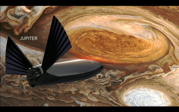 ITS u Jupiteru, vizualizace Autor: SpaceX