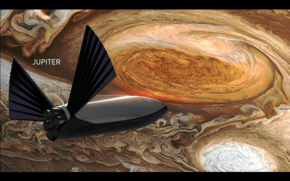 ITS u Jupiteru, vizualizace Autor: SpaceX