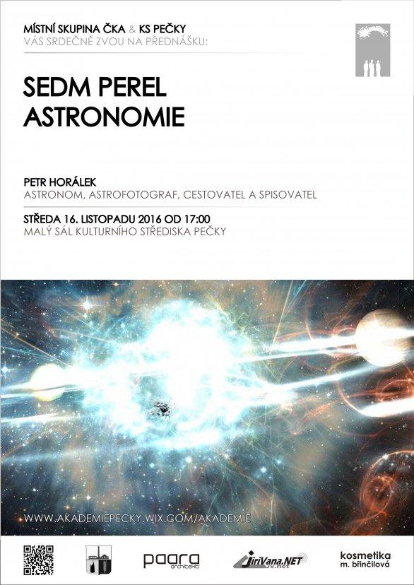 Přednáška Sedm perel astronomie 16. listopadu 2016 v KS Pečky. Autor: KS Pečky.