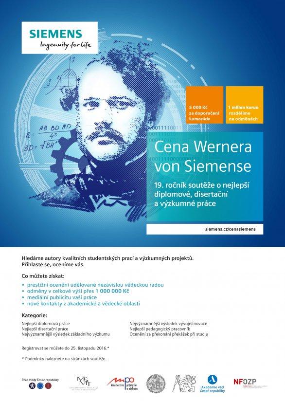19. ročník Ceny Wernera von Siemense. Autor: Siemens.cz
