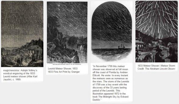 Leonidy 1799 a 1833 Autor: Public Domain / Pinterest