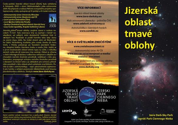 Leták k Jizerské oblasti tmavé oblohy (2016) - rub. Autor: ČAS.