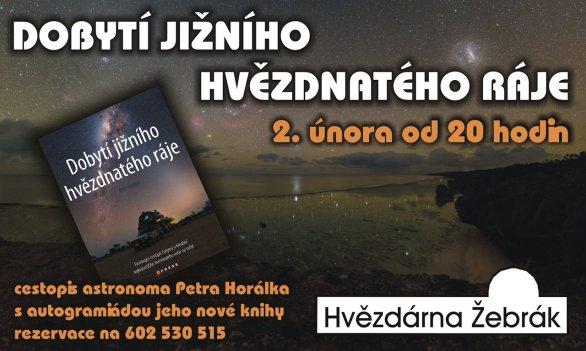 Přednáška Dobytí jižního hvězdnatého ráje Petra Horálka a Hvězdárně Žebrák. Autor: Hvězdárna Žebrák.