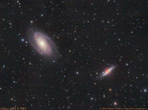 Dvojice galaxií M81 a M82 Autor: Martin Myslivec
