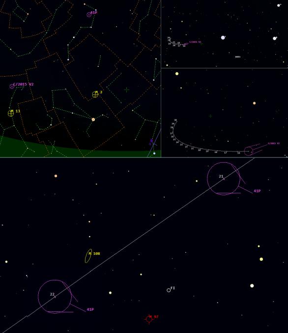 Kometa 41P u M108 a M97