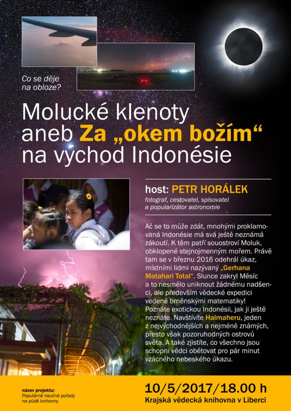 Přednáška Petra Horálka s názvem Molucké klenoty aneb Za okem božím až na východ Indonésie 10. května 2017 v liberecké krajské vědecké knihovně. Autor: KVKLI.