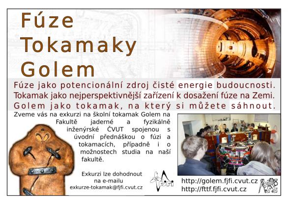 Přednáška: Spoutání energie hvězd v pozemských podmínkách – Tokamak Golem. Nenechte si ji ujít 22. května v Praze. Autor: Kosmologická sekce ČAS.