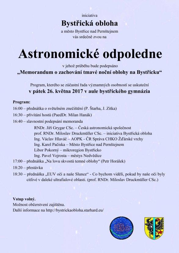 Plakát k akci v Bystřici nad Pernštejnem