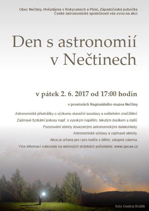 Astronomický den v Nečtinech Autor: Západočeská pobočka ČAS