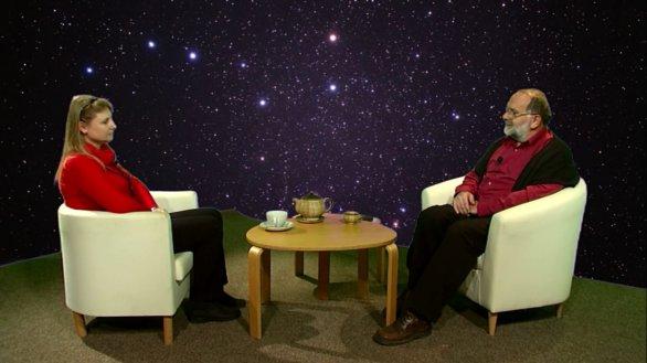 Mgr. Lenka Soumarová v pořadu Hlubinami vesmíru na TV Noe Autor: TV Noe