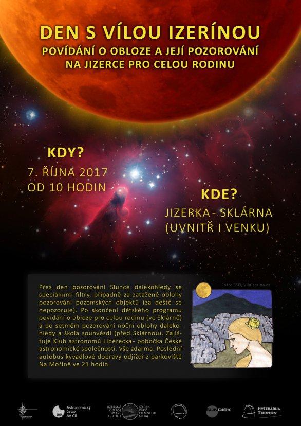 Den s Vílou Izerínou s astronomickým programem 7. října 2017. Autor: AsÚ AV ČR.
