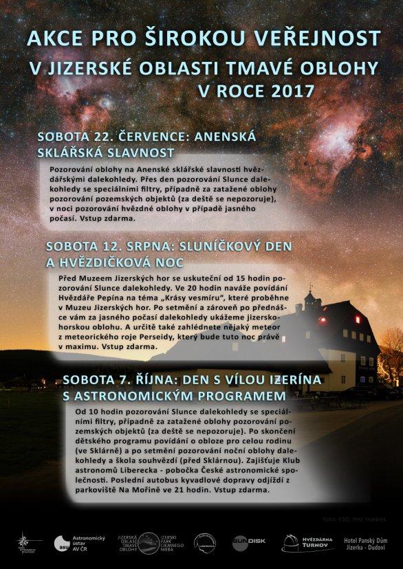 Akce v Jizerské oblasti tmavé oblohy v roce 2017. Autor: AsÚ AV ČR