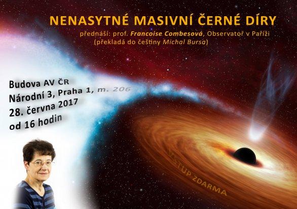 Přednáška Nenasytné masivní černé díry prof. Francoise Combesové 28. června 2017 od 16 hodin. Autor: AsÚ AVČR.