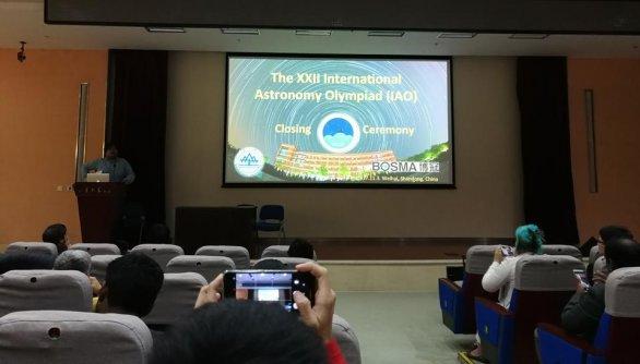Ceremoniál slavnostního zakončení IAO 2017 na Shandong University ve Weihai Autor: Ota Kéhar