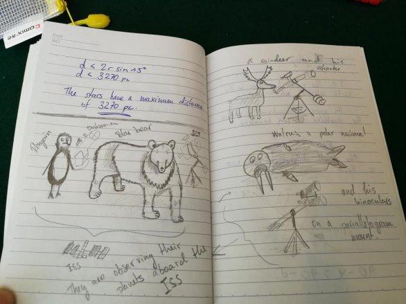 Obrázek mimozemských zvířat v teoretické části, za který získal Marco diplom Autor: Ota Kéhar