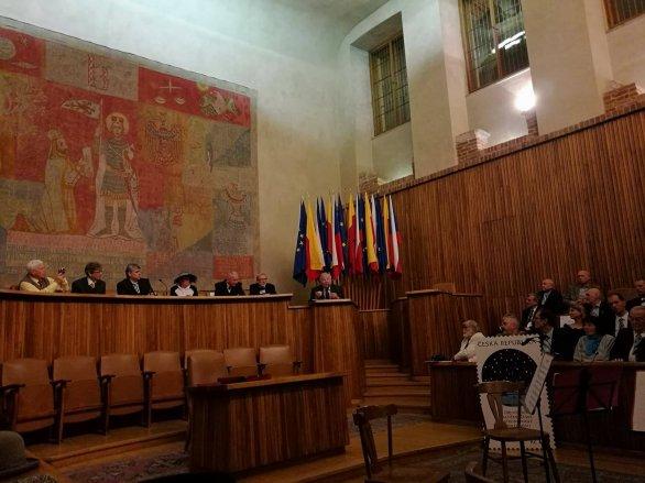 Slavnostní zasedání ČAS v aule Karolina 8. 12. 2017. Autor: Pavel Suchan.