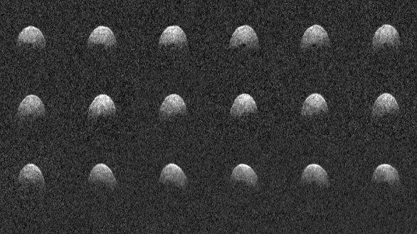 Planetka (3200) Phaeton na snímku pořízeném z radarových odrazů zachycených radioteleskopem Arecibo na ostrově Portoriko Autor: Arecibo Observatory/NASA/NSF