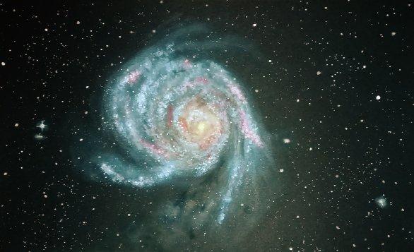 Spirální galaxie M 101 Autor: Tereza Prokopová