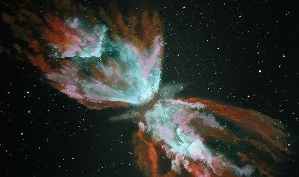 Mlhovina Motýlek, NGC 6302 Autor: Tereza Prokopová