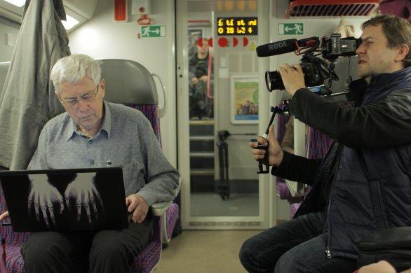 Jiří Grygar při natáčení filmu Autor: Slezská univerzita v Opavě