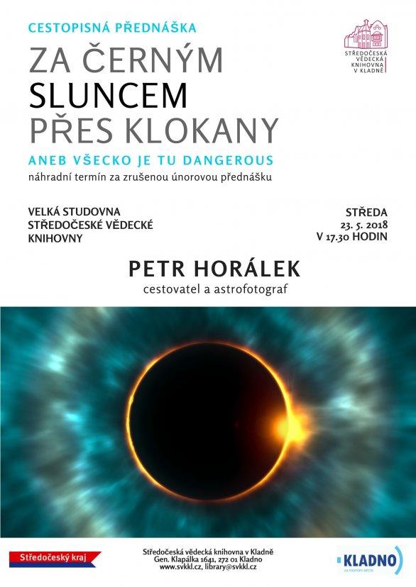 Přednáška Petra Horálka v kladenské knihovně 23. května 2018. Autor: SVK Kladno.
