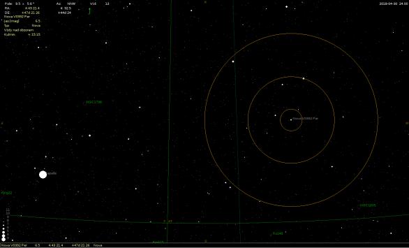 Mapka k vyhledání proměnné hvězdy V0392 Per Autor: Vic