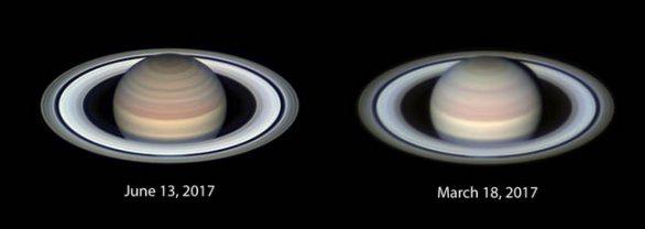 Opoziční (též Seelingerův) efekt zjasnění Saturnova prstence Autor: NASA/JPL/Christopher Go