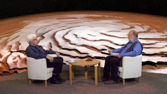 Host RNDr. Jiří Grygar a moderátor pořadu Jindřich Suchánek Autor: TV Noe