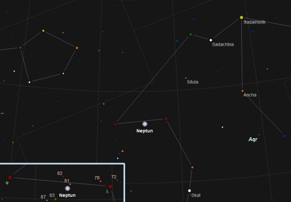 Neptun ve 42. týdnu 2018. Podklad: SkytechX