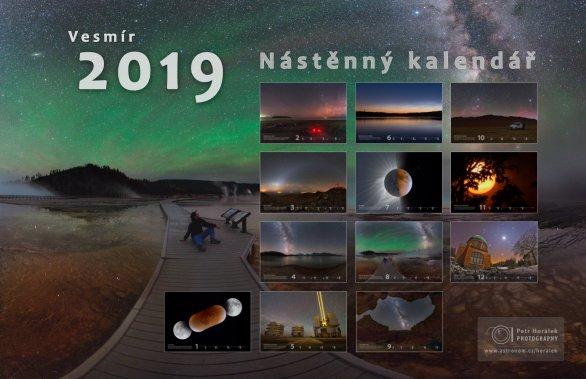Kalendář Vesmír 2019. Autor: Petr Horálek.