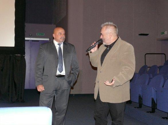 Ivan Bella (vlevo) a Marián Vidovenec na Astrofilmu Piešťany 2018. Autor: Astrofilm Piešťany.