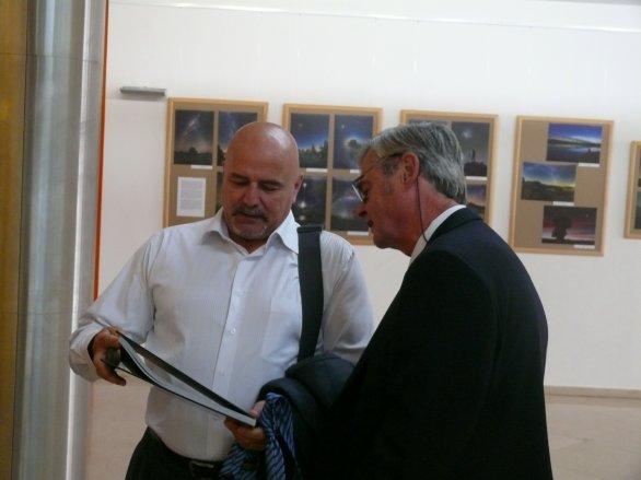 Ivan Bella (vlevo) a Paľo Rapavý na Astrofilmu Piešťany 2018. Autor: Astrofilm Piešťany.