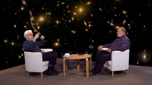 Jiří Grygar s moderátorem pořadu Hlubinami vesmíru Jindřichem Suchánkem Autor: TV Noe