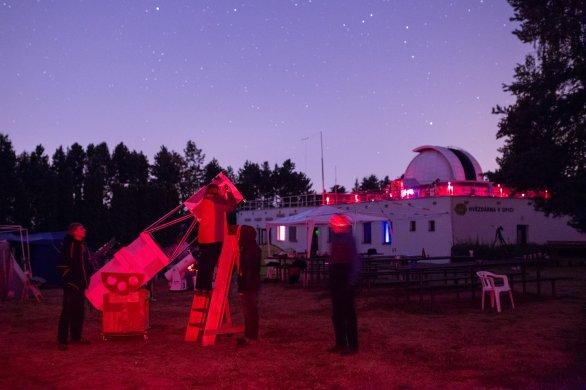 50cm Dobson na Astronomické expedici 2018 Autor: Vít Levinský