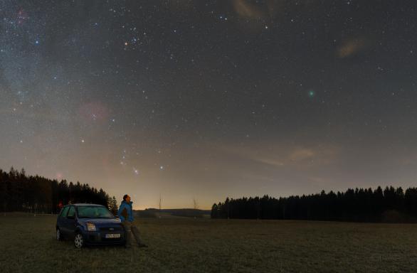 Kometa 46P Wirtnanen na dohled - detail Autor: Petr Horálek