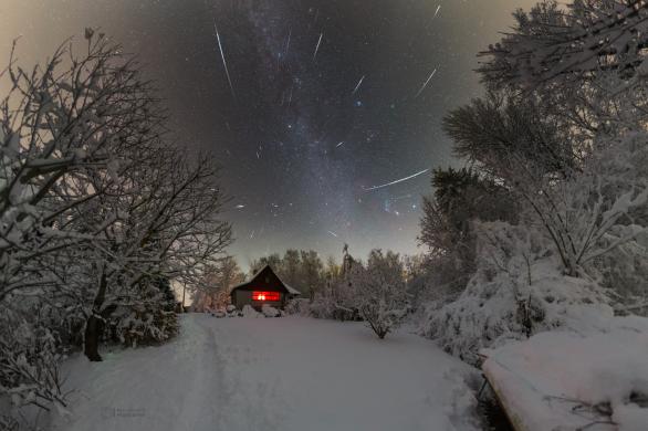 (Geminidová) noc plná přání... Autor: Petr Horálek.