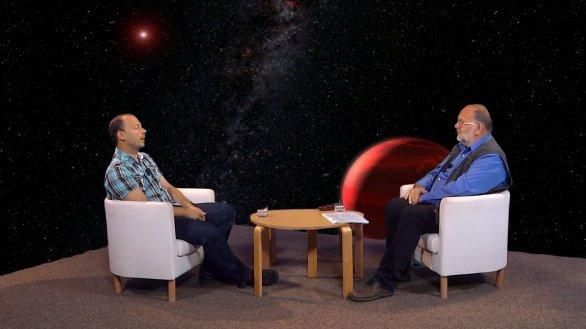 doc. Michal Švanda s moderátorem pořadu Hlubinami vesmíru Jindřichem Suchánkem Autor: TV Noe