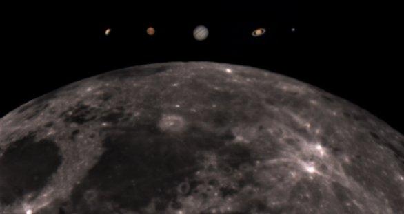 Snímek Mesiac a planéty. Autor: Tadeáš Valent