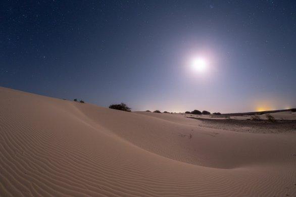 V poušti Viana za svitu Měsíce. Autor: Petr Horálek.