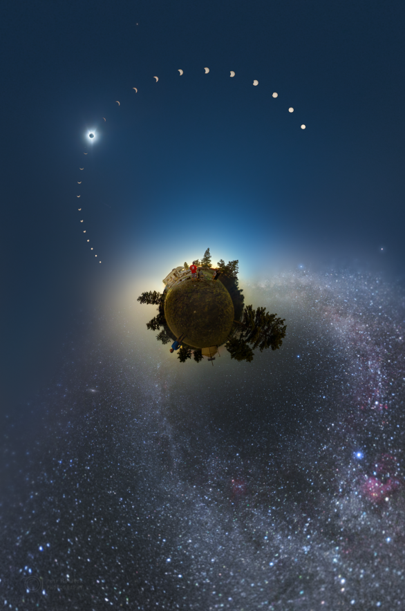 Ve dvou kosmických stínech... Autor: Petr Horálek.